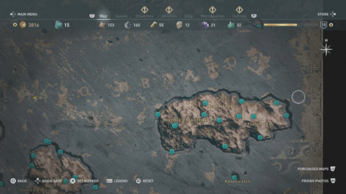 Samos Collectibles Locations