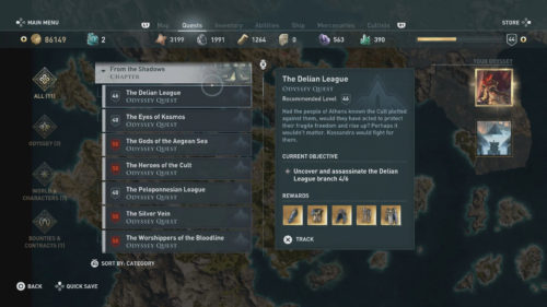 Side Quests in Assassin's Creed Odyssey