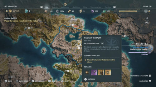 Sphinx Location in Assassin's Creed Odyssey