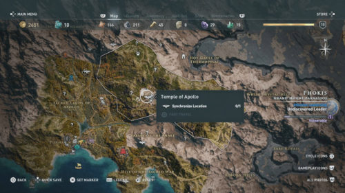 Synchronize Location Assassin's Creed Odyssey