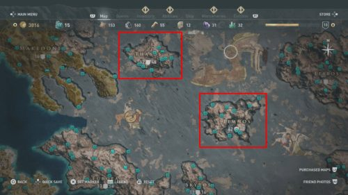 Thasos + Lemnos (Hephaistos Islands) Collectibles Locations