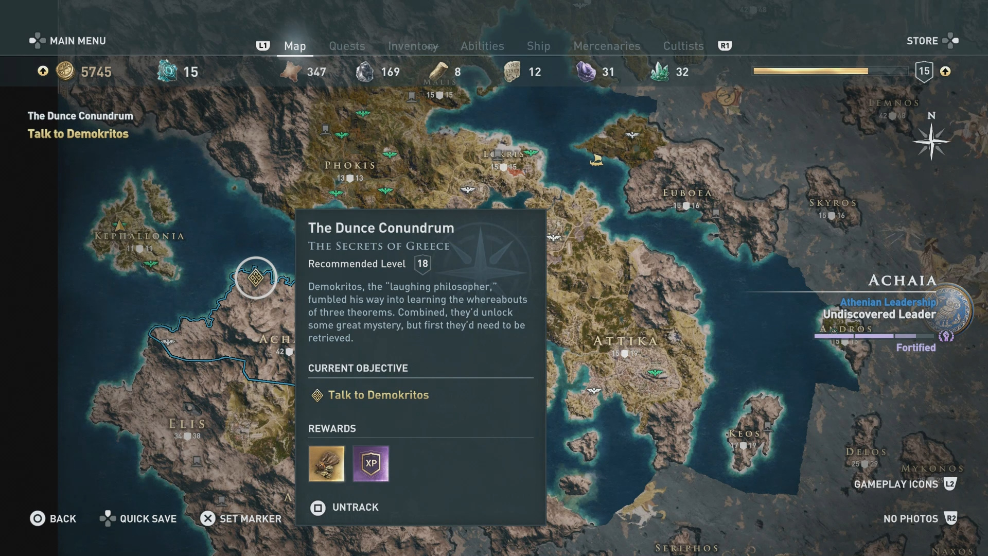 Assassins Creed Odyssey Underwater Location Objectives