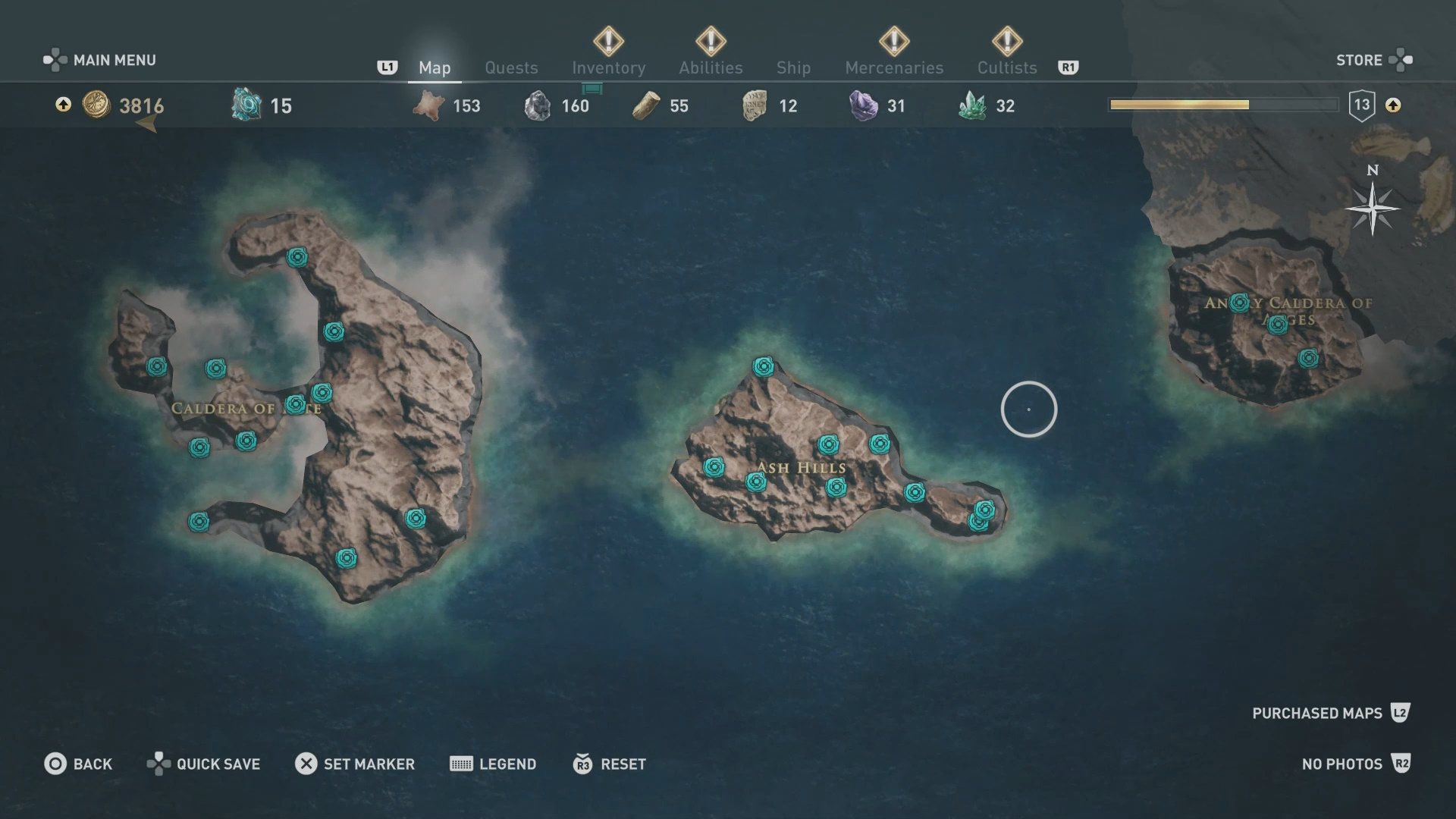 Assassin S Creed Odyssey Karte.Collectibles Locations Map Assassin S Creed Odyssey