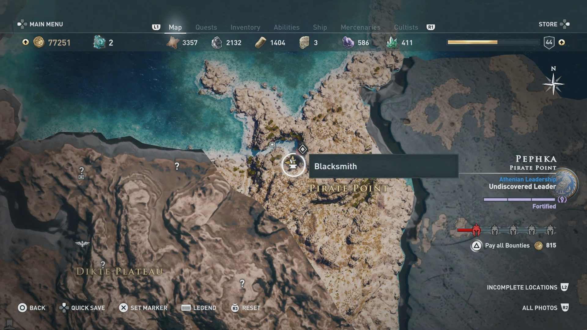 assassins creed odyssey legendary map