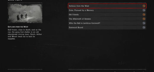 All Level Checklists Chapter 1 Mission Checklists in Red Dead Redemption 2