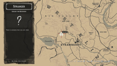 Geology for Beginners Mission Start Location in Red Dead Redemption 2