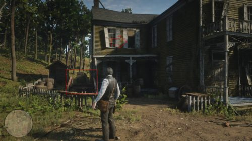 How to get into the mutant creature house in Red Dead Redemption 2