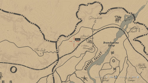 Meteor Crater location in Red Dead Redemption 2