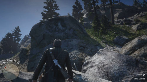 Rock Carving 1 Location - West Bank of the Ownajila Lake Red Dead Redemption 2