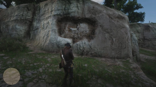 Rock Carving 3 Location - Northwest of Flatneck Station in Red Dead Redemption 2