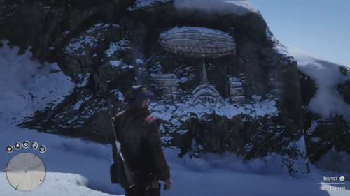 Rock Carving 4 Location - End of Road at Top of Mount Hagen in Red Dead Redemption 2