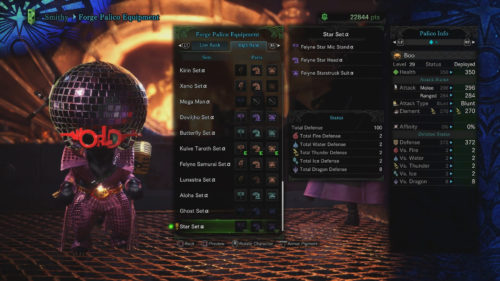 Palico Star Set Alpha requirements Monster Hunter World