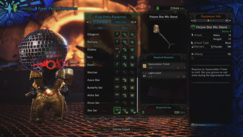 Palico Star Set Requirements Monster Hunter World