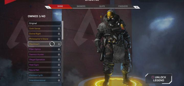 Blackheart Caustic Skin in Apex Legends