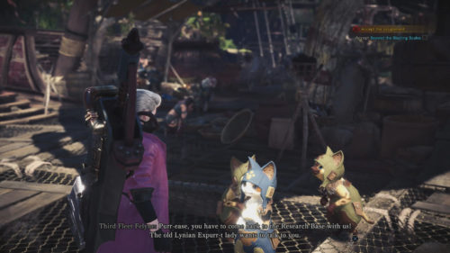 Third Fleet Felyne in Monster Hunter World