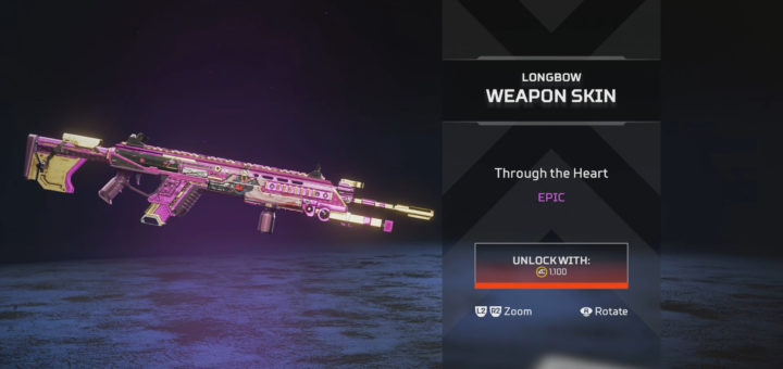 """""""Through the Heart"""" Longbow Epic DMR skin is available for a limited time."""