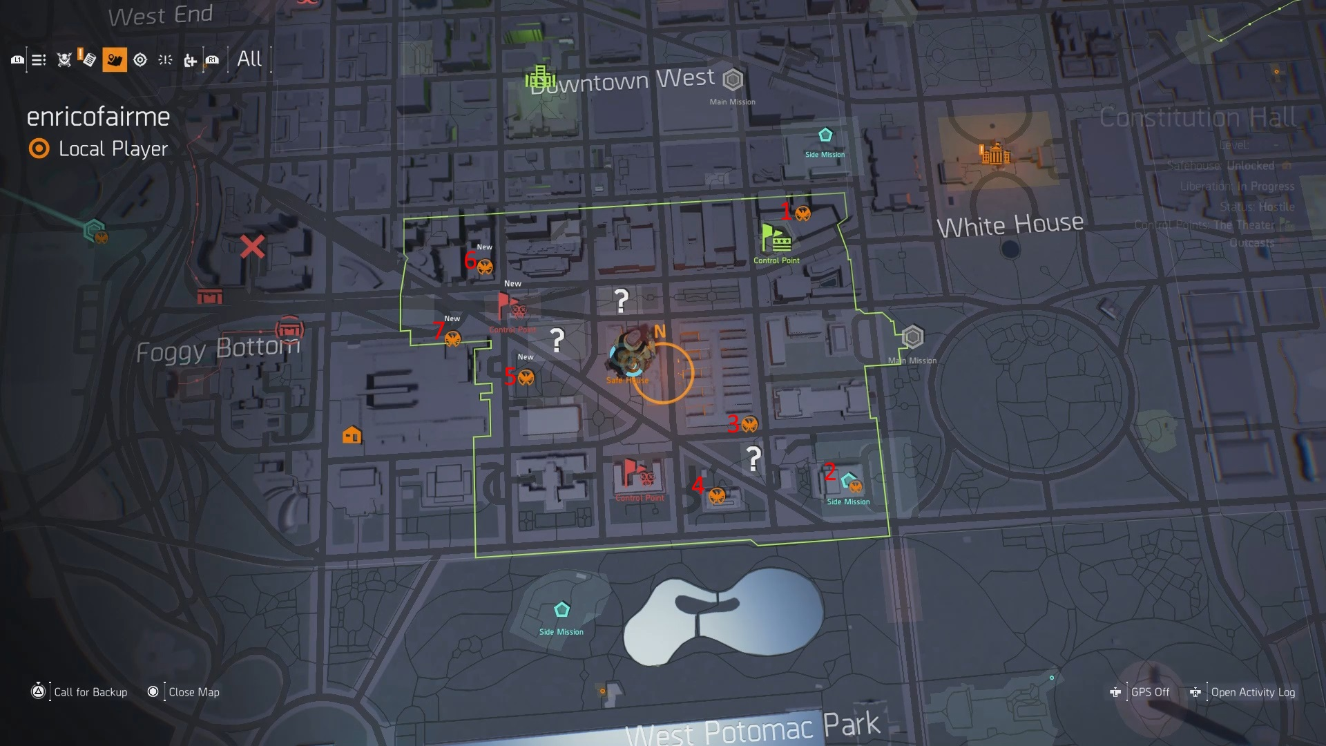 The Division 2 Constitution Hall SHD Tech Cache Locations