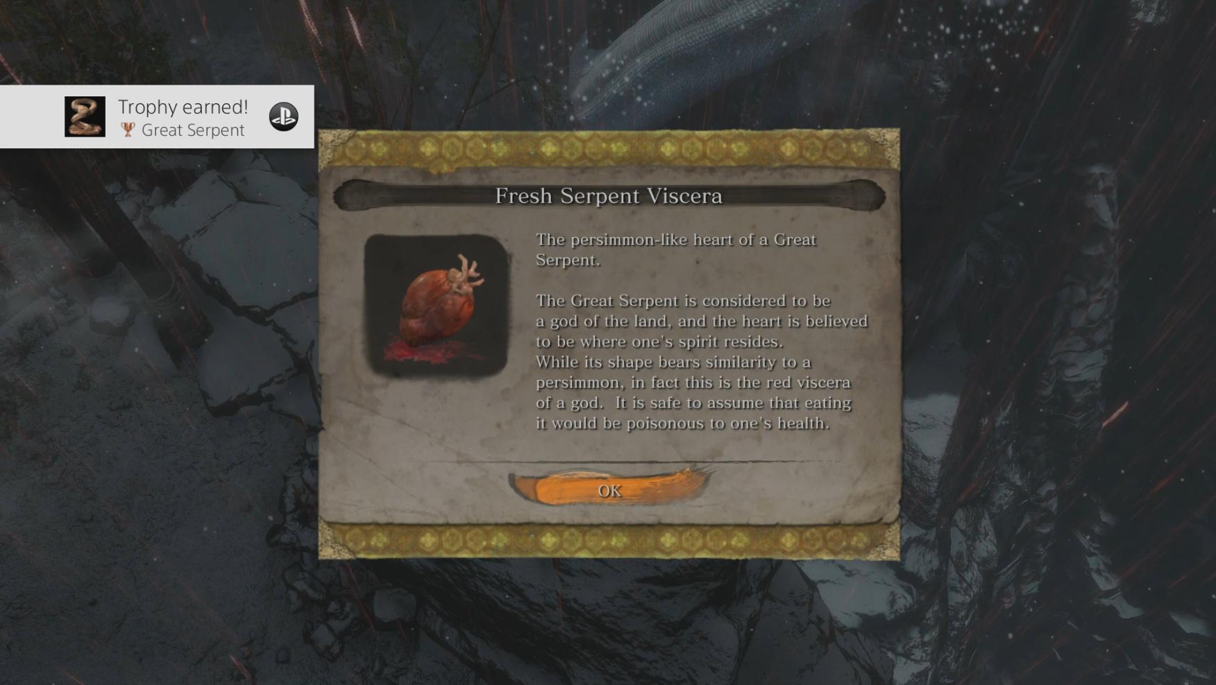How to Get the Fresh Serpent Viscera item