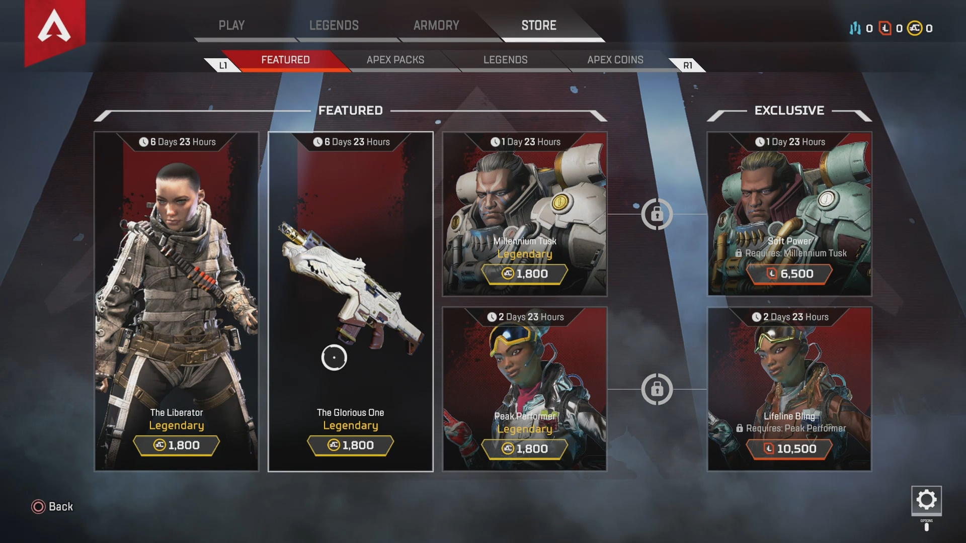 What's For Sale in the Apex Legends Store - March 6, 2019