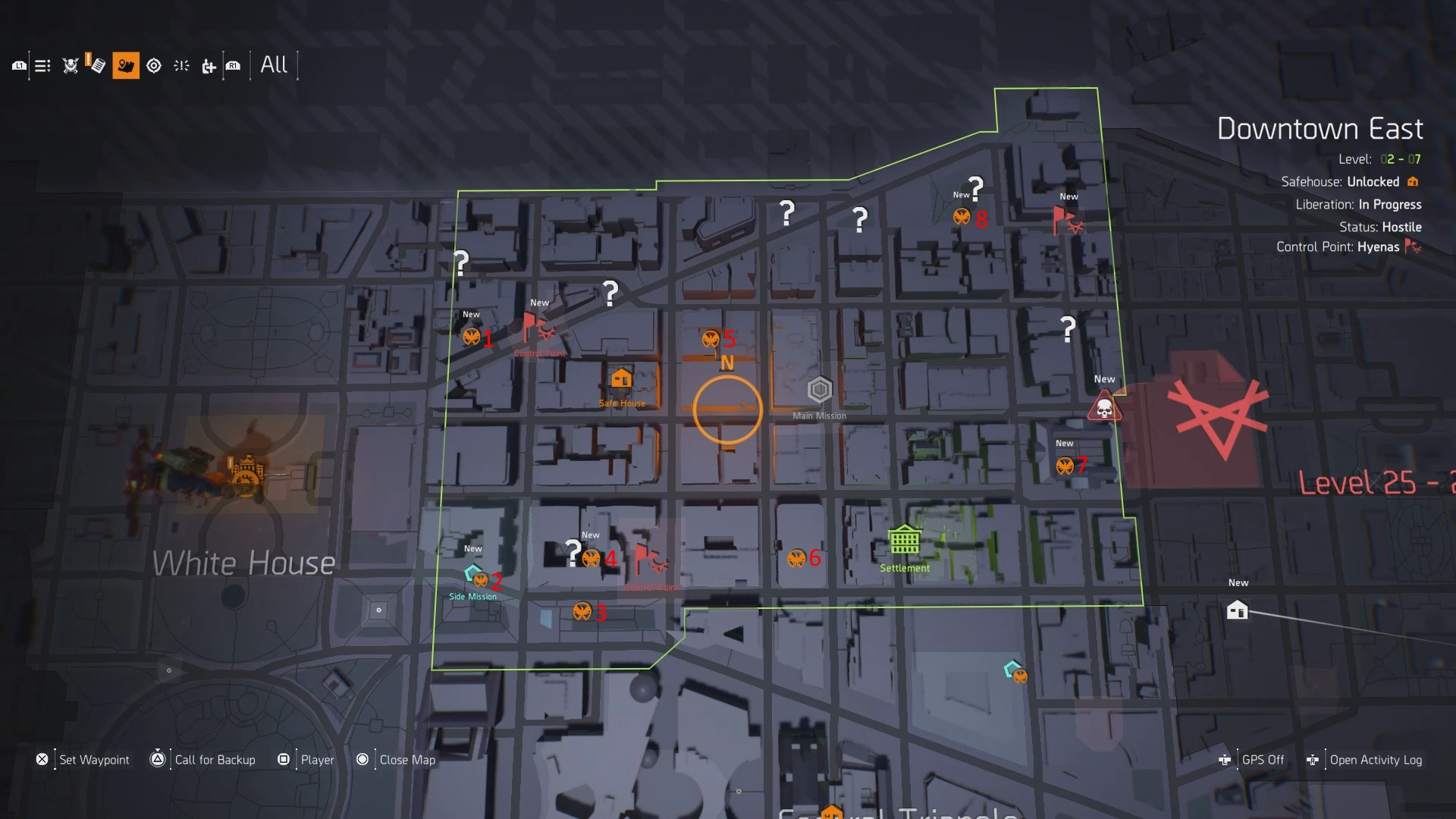 The Division 2 Downtown East SHD Tech Cache Locations