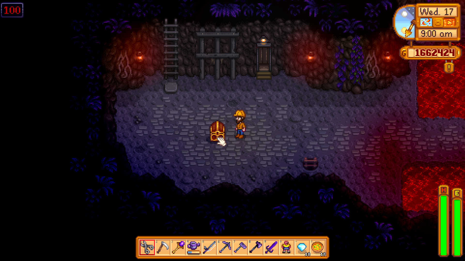 Stardrop #3 Location: Level 100 of Mines