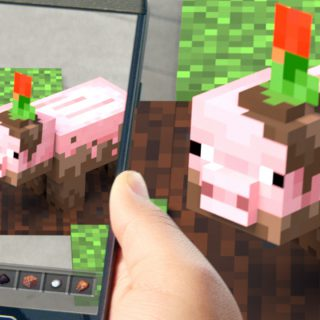 Featured image on Minecraft Earth gameplay reveal.