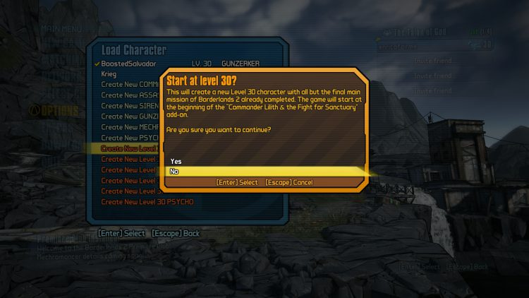 Image showing a Boosted Character in Borderlands 2.
