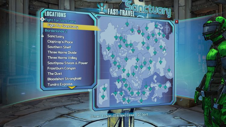 Image showing the start of the Commander Lilith & the Fight for Sanctuary DLC in Borderlands 2.