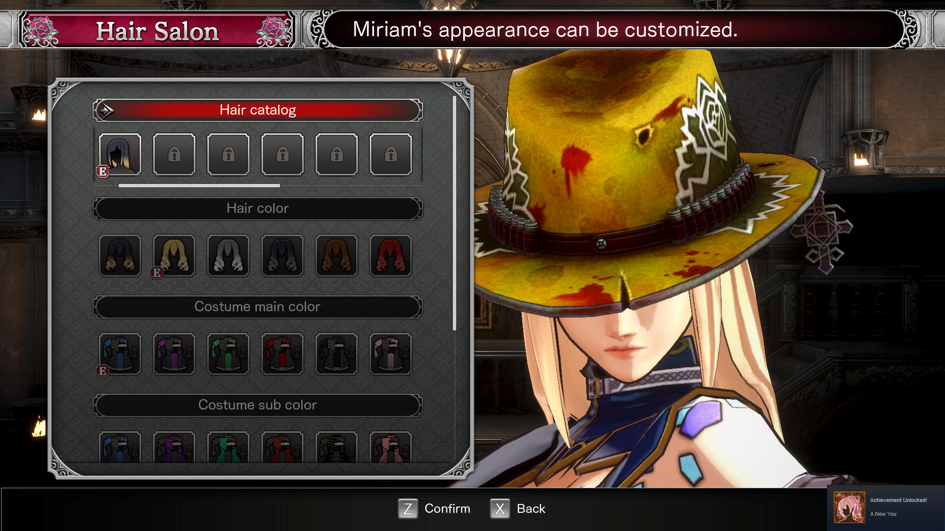 Bloodstained Ritual of the Night Hair Apparent Locations