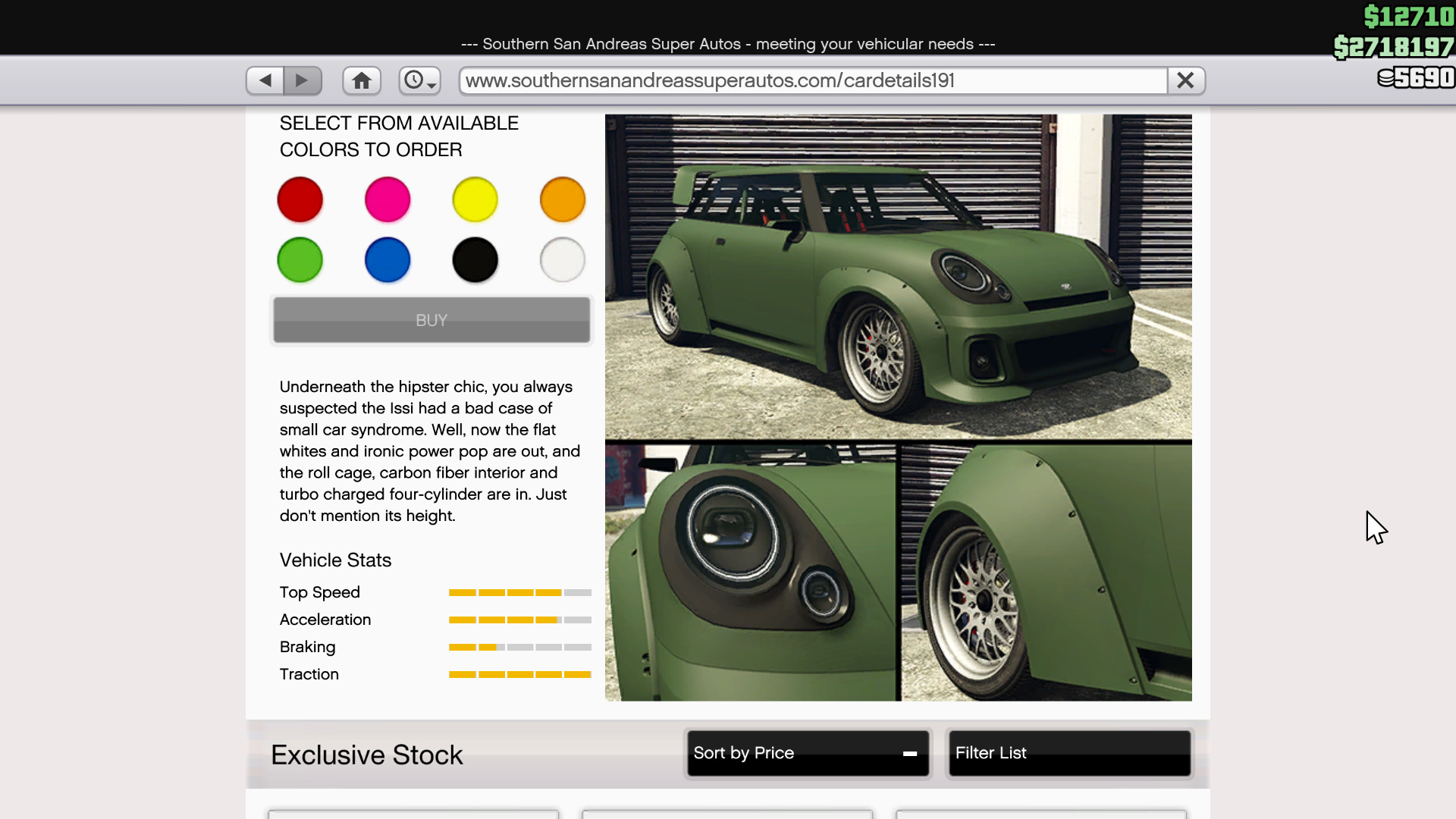 Image showing the Weeny Issi Sport in GTA Online.