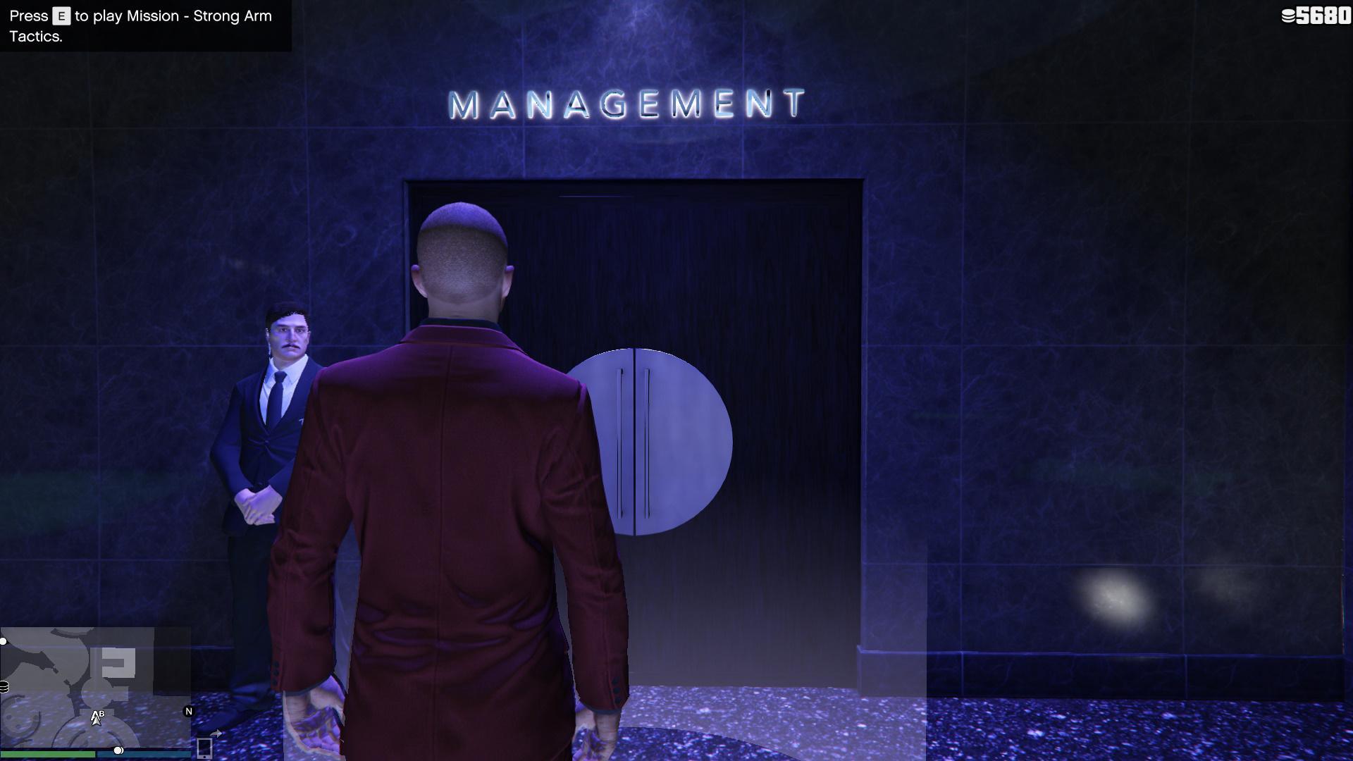 Image showing the management door in The Diamond Casino.