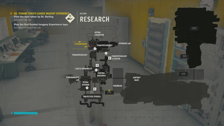 Image showing the Extrasensory Lab location.