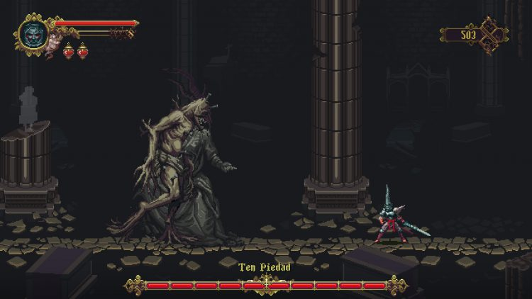 Image showing the Ten Piedad boss in Blasphemous.