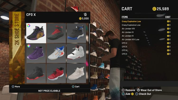 Image showing where to Where to Get the 'Pick 10' MyPLAYER Shoes.