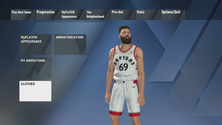 Image showing the Where Are The MyPLAYER Clothing and Apparel Items.