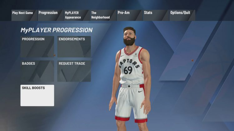 Image showing where to find the MyCAREER Skill Boosts.