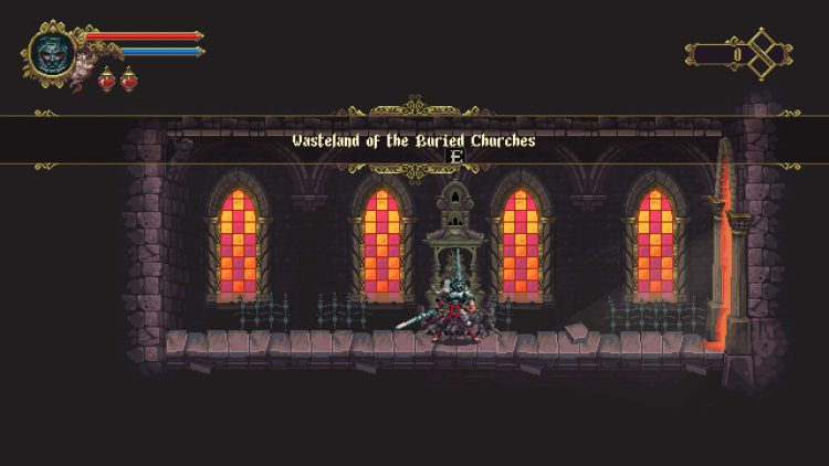 Image showing the Wasteland of the Buried Churches area of Blasphemous.