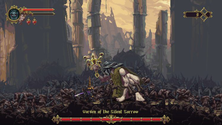 Image showing the Warden of the Silent Sorrow boss fight.