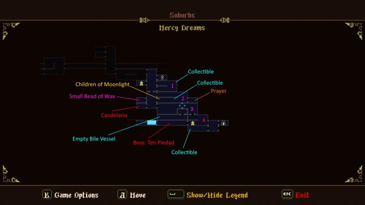 Image showing the Mercy Dreams Map