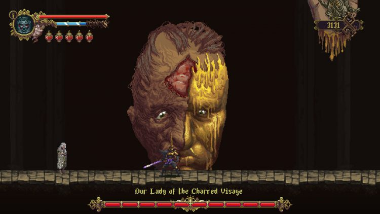 Image showing the Our Lady of the Charred Visage boss.