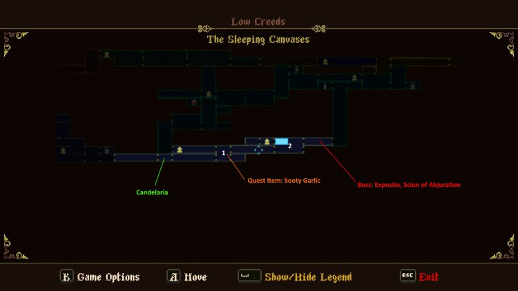 Image showing the The Sleeping Canvases Map.