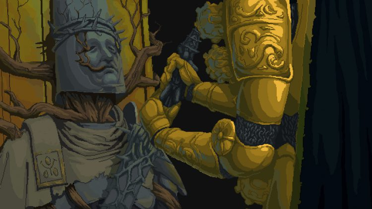 Image showing a screenshot from Ending A of Blasphemous.