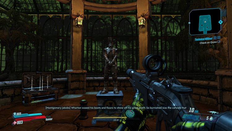 Image showing the solution to the statue inside the Neglected Solarium.