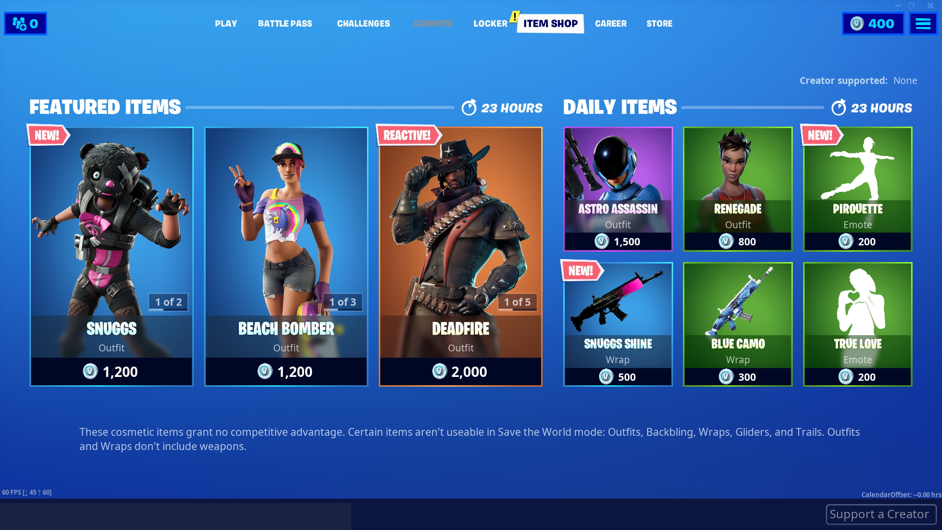 What's for Sale in the Fortnite Item Shop - October 18-19