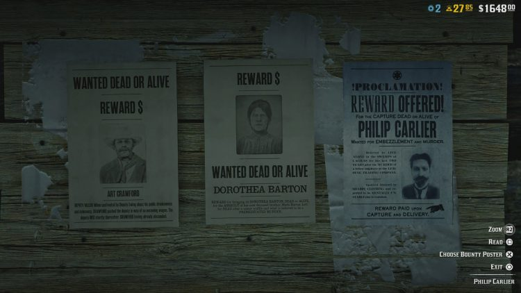 Image showing the Philip Carlier legendary bounty.