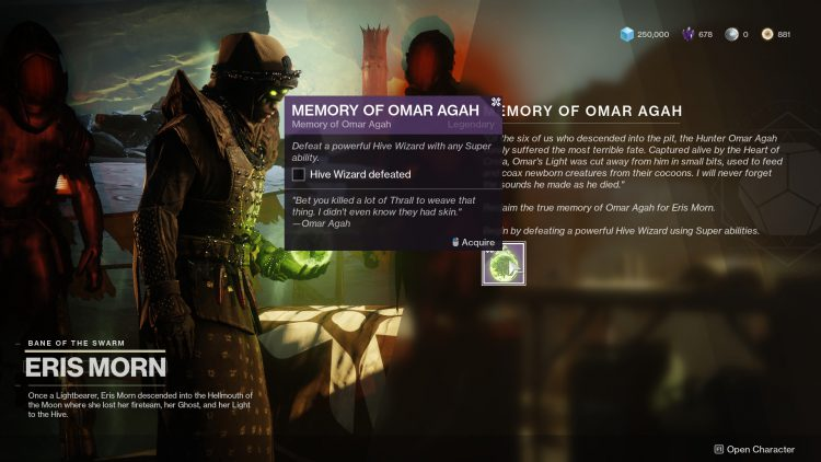 Image showing the Memory of Omar Agah mission.
