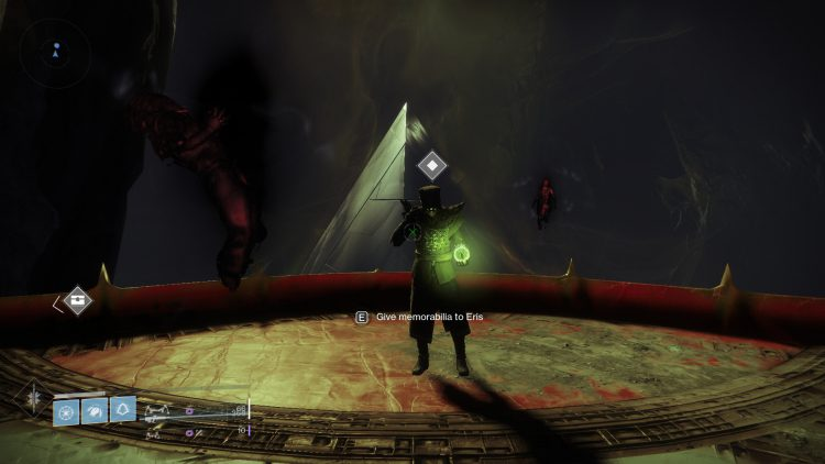 Image showing giving memorabilia to Eris.