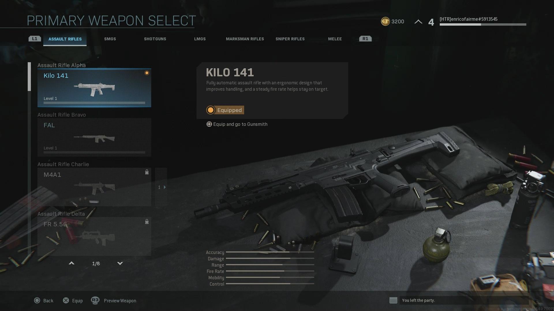 Call Of Duty Modern Warfare Weapons Unlocks Lists