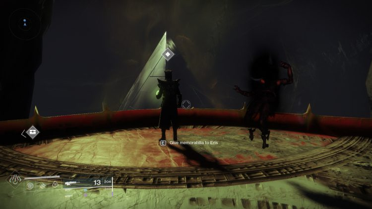 Image showing giving the Eriana-3's Letter item to Eris Morn.