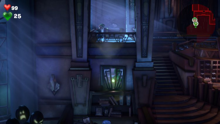 Image showing the location of the Blue Gem on Floor 1.